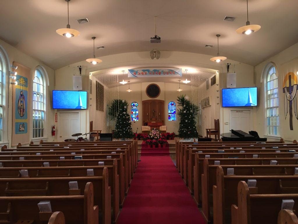 뉴송교회 본당 오디오 비디오 업그레이드