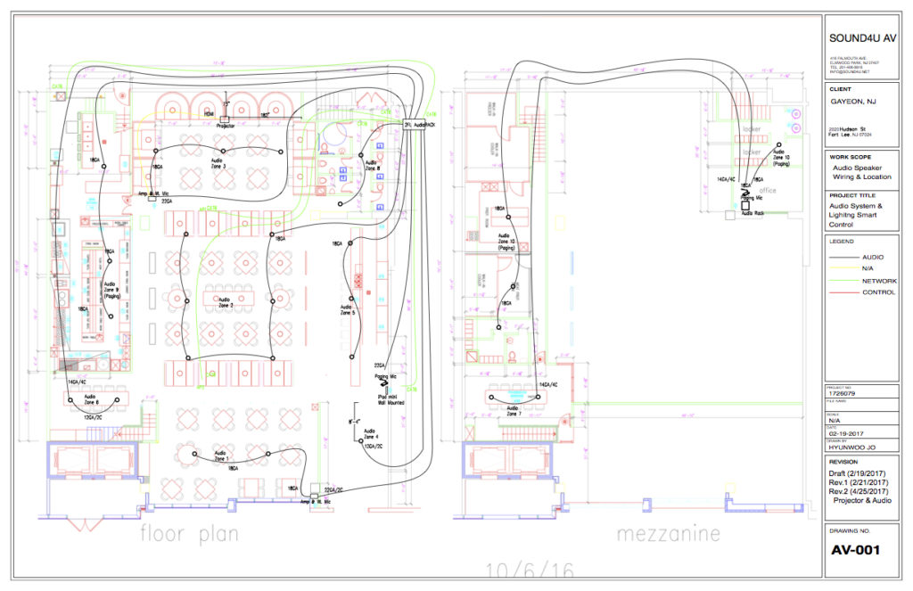 SOUND4U Audio Video Wiring CAD